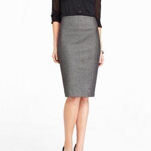 EXPRESS High Yoke Waist Midi Pencil Skirt
